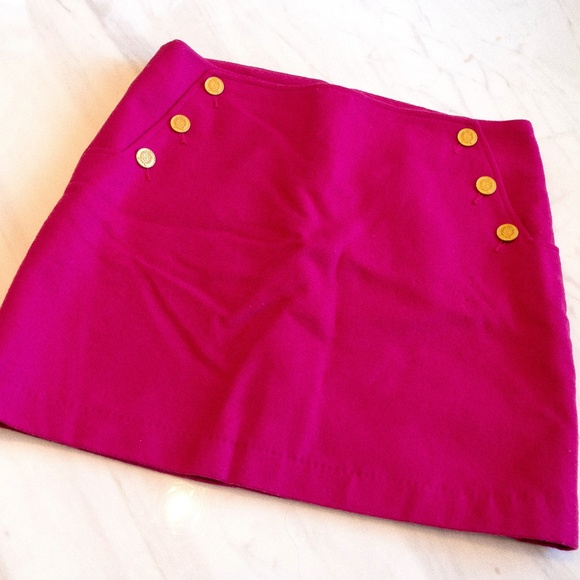 Bright pink Tommy Hilfiger Wool Mini Skirt